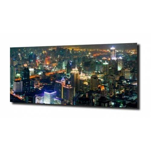 obraz na szkle, panel szklany Bankog nocą 125X50