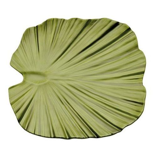 Aps Półmisek z melaminy w kształcie liścia palmy | zielony | różne wymiary