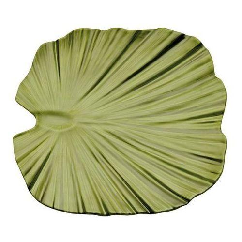 Półmisek z melaminy w kształcie liścia palmy | zielony | różne wymiary