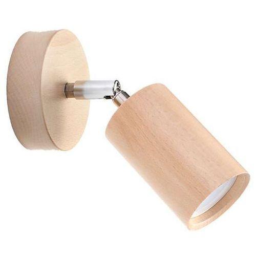 Kinkiet LAMPA ścienna SOL SL701 ekologiczna OPRAWA drewniana tuba regulowana chrom (1000000570472)