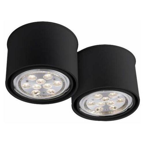 Downlight LAMPA sufitowa MIKI 1118 Shilo natynkowa OPRAWA SPOT do łazienki czarny, 1118