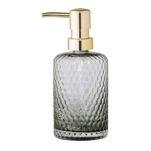 Bloomingville Dozownik do mydła, szare szkło, złoty - (5711173159314)