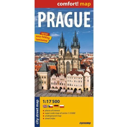 Praga mapa laminowana 1:17 500 ExpressMap, praca zbiorowa