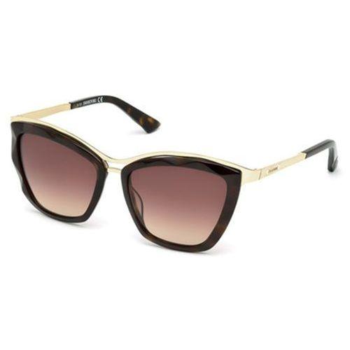 Okulary Słoneczne Swarovski SK 0116 52F, kolor żółty
