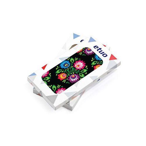 Samsung galaxy j7 prime - etui na telefon fantastic case - czarna łowicka wycinanka marki Etuo fantastic case