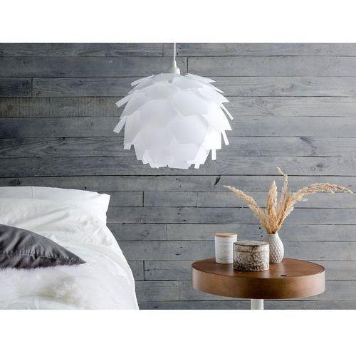 Lampa biała - sufitowa - żyrandol - lampa wisząca - segre mała marki Beliani
