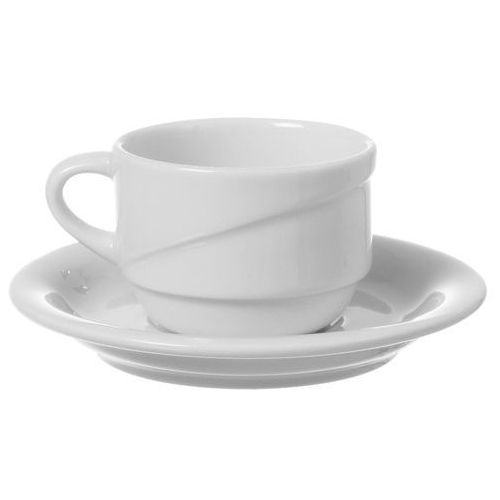 Filiżanka sztaplowana ze spodkiem porcelanowa poj. 90 ml gourmet marki Fine dine