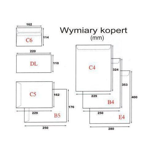 Koperta B5/50szt. SK biała
