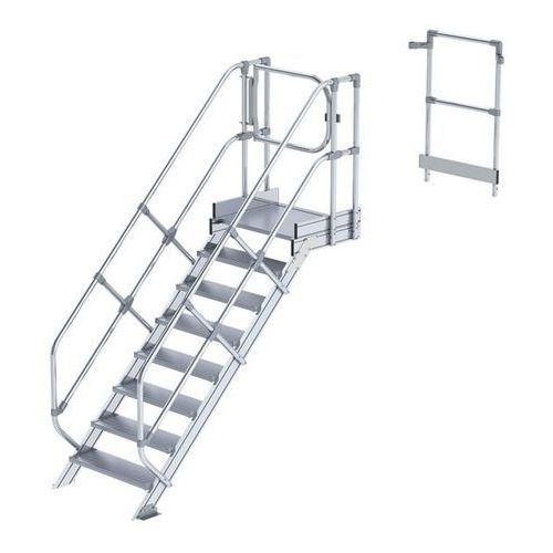 Przemysłowy pomost roboczy, moduł do schodów, 7 stopni. najwyższa elastyczność d marki Günzburger steigtechnik