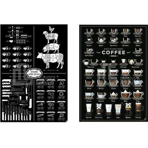 Plakaty 38 Ways To Make a Perfect Coffee i Kitchen First Aid Kit 2 szt (5902898541601)