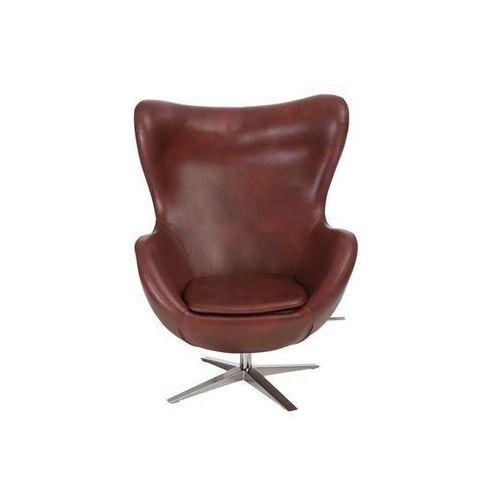 D2.design Fotel jajo szeroki skóra ekologiczna 534 kasztanowy
