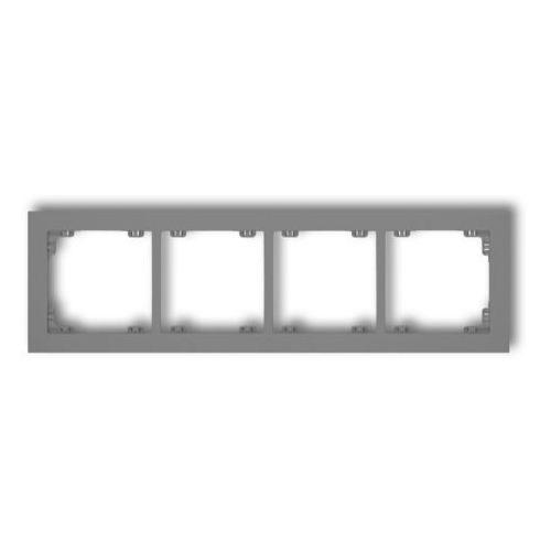 DECO Ramka uniwersalna poczwórna z tworzywa szary mat 27DR-4 (5901832008521)