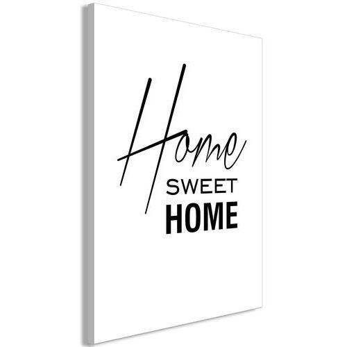 Obraz - black and white: home sweet home (1-częściowy) pionowy marki Artgeist