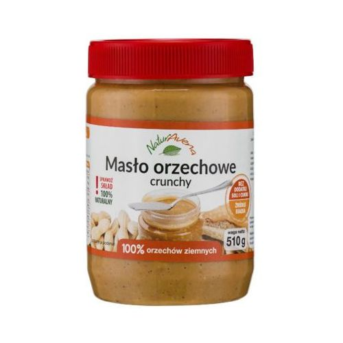 NATURAVENA 510g Naturalne Masło orzechowe crunchy