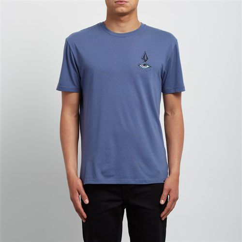 koszulka VOLCOM - Burch Eye Dd Ss Deep Blue (DPB) rozmiar: L, kolor niebieski