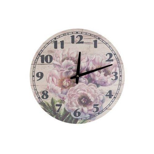 Zegar wiszący na ścianę róże do powieszenia płótno marki Home