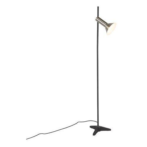 Qazqa Nowoczesna lampa podłogowa stal 1 źródło światła - speaker