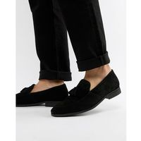tassel loafers in black suede - black marki Dune
