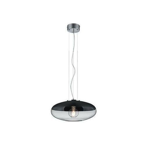 Loftowa lampa wisząca porto 308800132 skandynawska oprawa zwis szklany chrom czarny marki Trio