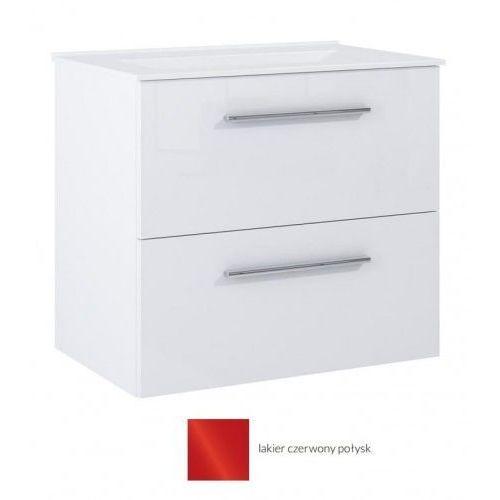 DEFTRANS SILESIA / METRO Zestaw łazienkowy szafka w kolorze czerwony połysk + umywalka, 190-D-060081722
