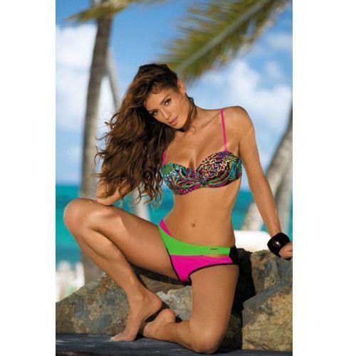 Marko Kostium kąpielowy model margaret nero-rosa shocking-crickiet m-377 black/pink/green