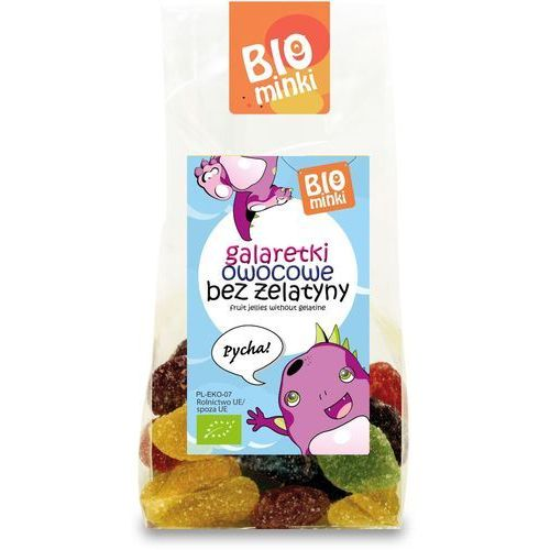Biominki (przekąski dla dzieci) Galaretki owocowe bez żelatyny bio 100 g - biominki (5902448165097)