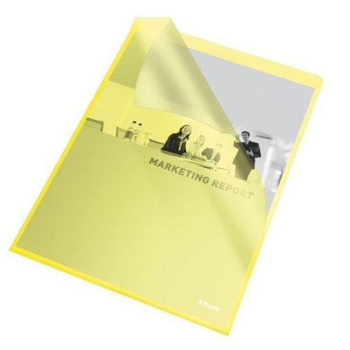 Ofertówka groszkowa L Esselte 60836 A4/25szt.,115mic. żółta