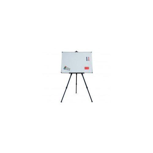 Zestaw - tablica magnetyczna biała 100x80 cm + sztaluga + gąbka + magnesy + markery