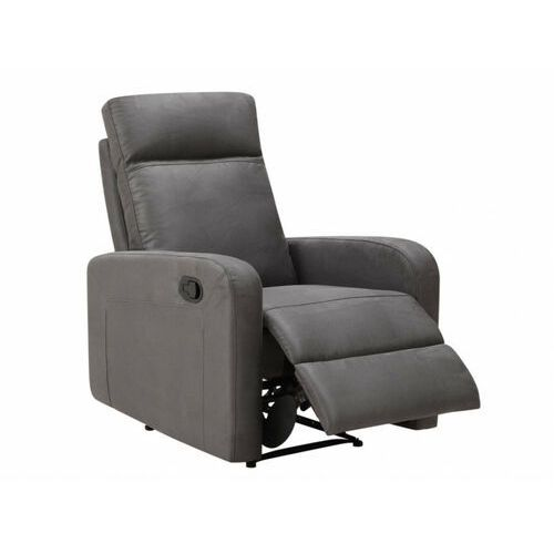 Vente-unique Fotel carlina typu relaks z tkaniny– kolor antracytowy