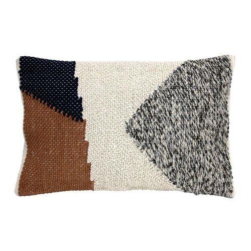 Hk living wiązana poduszka z kolorami jesieni, wykonana z bawełny (40x60) tku2033