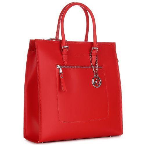 Elegancka torebka skórzana czerwona (kolory) marki Vittoria gotti