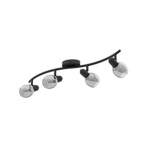 Eglo Pollica 98626 listwa lampa oprawa sufitowa 4x28W E14 czarna, 98626