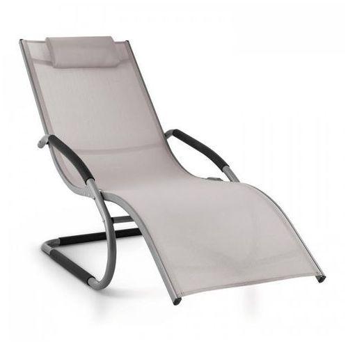 sunwave leżak ogrodowy leżak relaksacyjny bujający aluminium szarobrązowy marki Blumfeldt