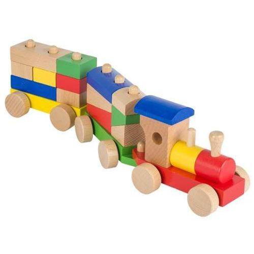 Drewniany pociąg. 13 klocków marki Goki