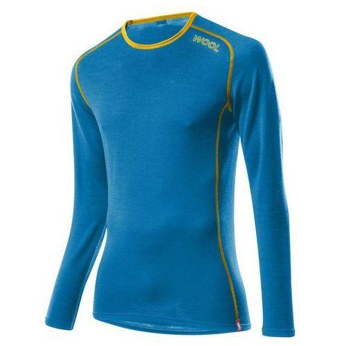 Löffler Bielizna termoaktywna transtex wool long sleeves niebieski/pomarańczowa 50