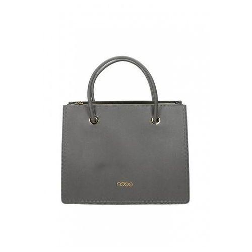 Szara, klasyczna torebka ze skóry ekologicznej - marki Nobo