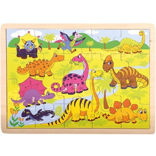 drewniane puzzle dinozaury wyprodukowany przez Bino