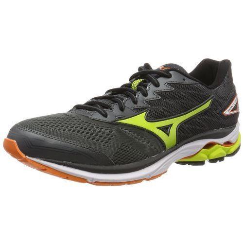 Mizuno WAVE RIDER 20 Obuwie do biegania treningowe dark shadow/lime punch/vibrant orange, J1GC1703