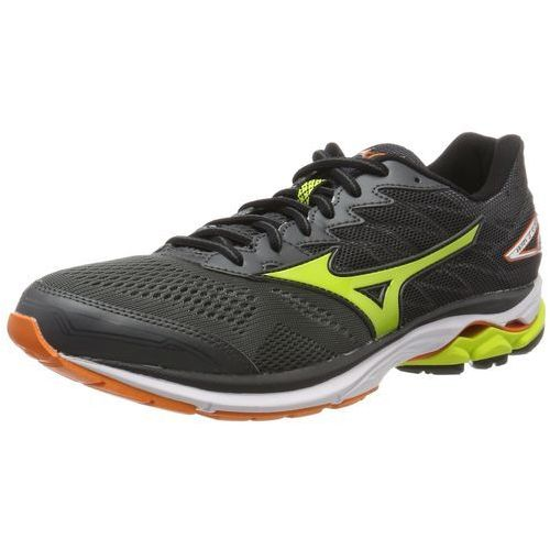wave rider 20 obuwie do biegania treningowe dark shadow/lime punch/vibrant orange marki Mizuno