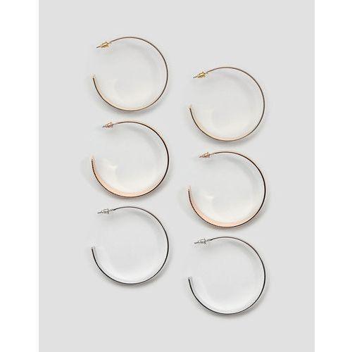 3 pack hoop earrings - multi marki New look