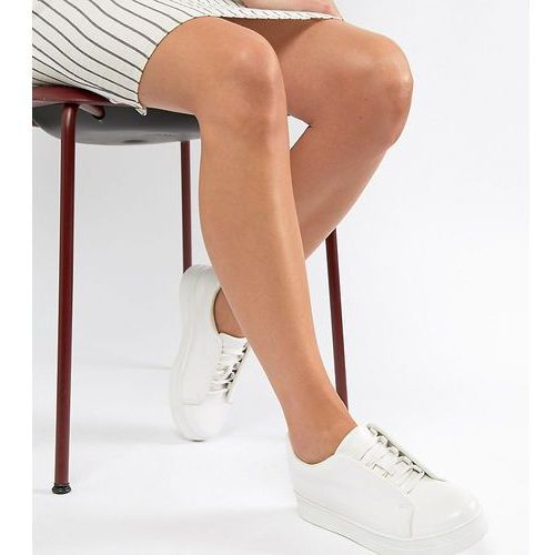 Truffle Collection Clean Lace Up Trainers - White, kolor biały