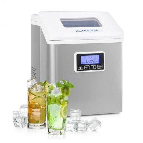 Klarstein clearcube lcd, kostkarka do lodu, przejrzysty lód, 15 - 20 kg / 24 godz., biała (4060656156335)