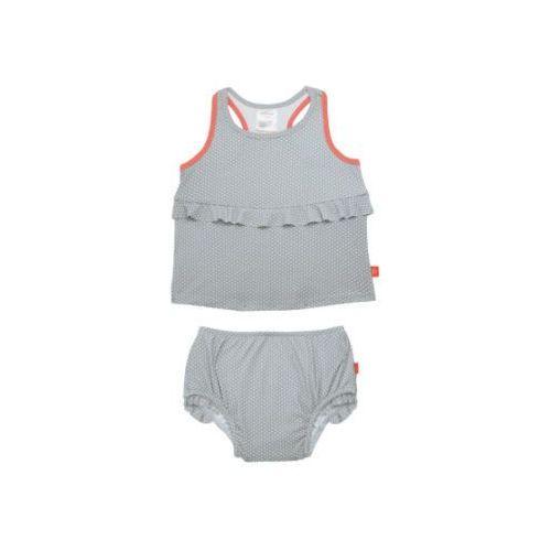 LÄSSIG Girls Splash & Fun Strój kąpielowy 2-częściowy grey (4042183351636)