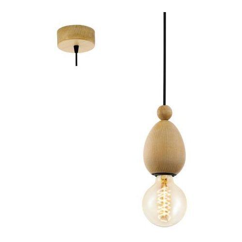 Eglo Lampa wisząca avoltri 49376 drewniana oprawa zwis brązowy (9002759493769)