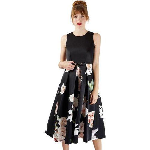 Closet London damska sukienka D3737 42 czarny, letnia