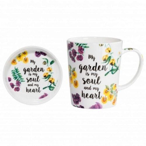 Maxwell & williams - royal botanic garden - kubek z talerzykiem, soul&heart