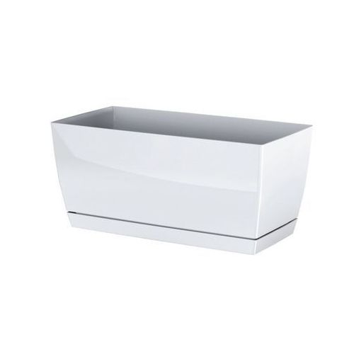 Prosperplast Plastikowa skrzynka Coubi Case z podstawką biały, 39 cm, 39 cm