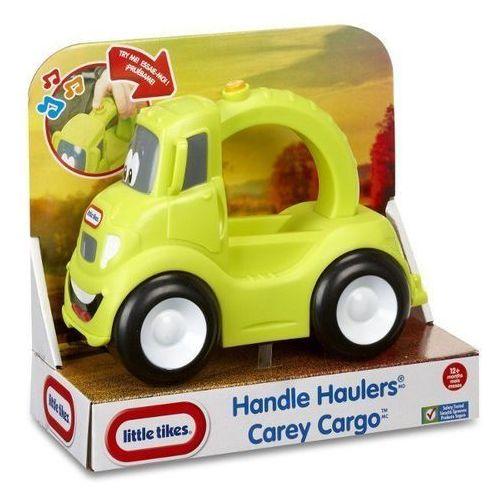 Żółte auto marki Little tikes