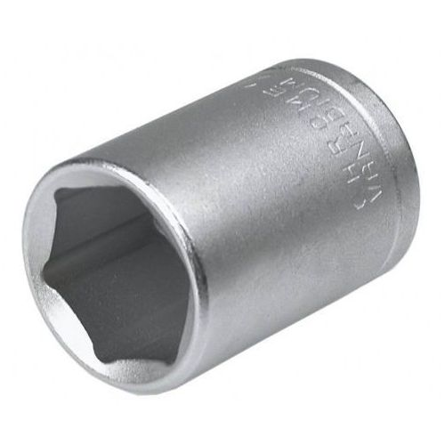 Topex Nasadka krótka 6-kątna chromowana 1/2'''' 19mm (5902062043597)