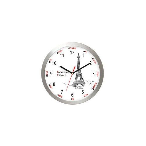 Aluminiowy zegar ścienny wieża eiffla marki Atrix